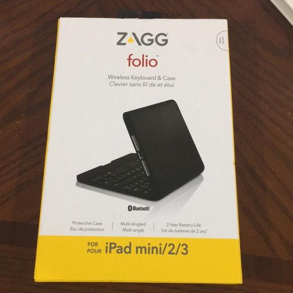 Zagg Accessories Brand New Folio For Ipad Mini 23 Poshmark
